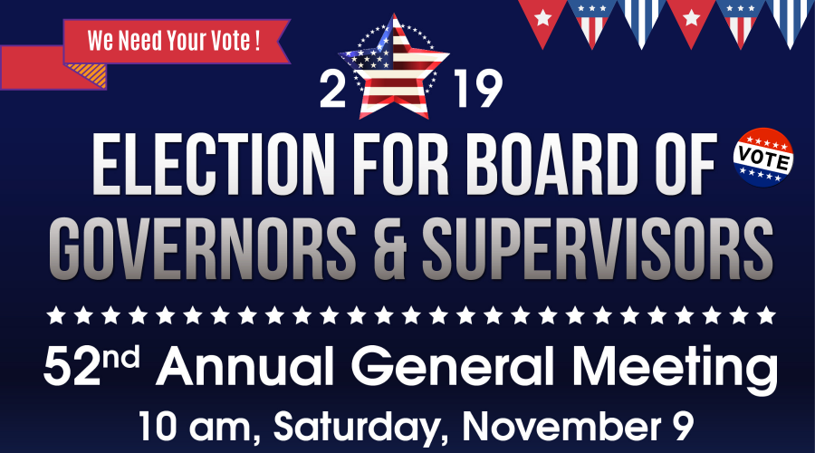 2019 Election for Board of Governors & Supervisors